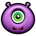 72x72px size png icon of Alien scared