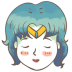 72x72px size png icon of sailor mercury