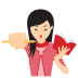72x72px size png icon of girl motivated