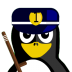 72x72px size png icon of Cop Tux