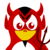 72x72px size png icon of Devil Tux