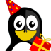 72x72px size png icon of Happy Birthday Tux