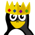 72x72px size png icon of King Tux