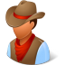 72x72px size png icon of Historical Cowboy