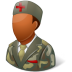 72x72px size png icon of Medical Army Nurse Male Dark
