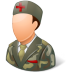 72x72px size png icon of Medical Army Nurse Male Light