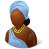 72x72px size png icon of Nations African Female