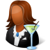 72x72px size png icon of Occupations Bartender Female Dark
