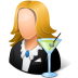 72x72px size png icon of Occupations Bartender Female Light