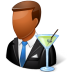 72x72px size png icon of Occupations Bartender Male Dark
