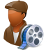 72x72px size png icon of Occupations Film Maker Male Dark