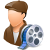72x72px size png icon of Occupations Film Maker Male Light