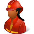 72x72px size png icon of Occupations Firefighter Female Dark