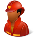 72x72px size png icon of Occupations Firefighter Male Dark