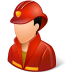 72x72px size png icon of Occupations Firefighter Male Light