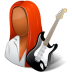 72x72px size png icon of Occupations Guitarist Female Dark