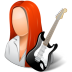 72x72px size png icon of Occupations Guitarist Female Light