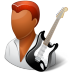 72x72px size png icon of Occupations Guitarist Male Dark