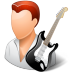 72x72px size png icon of Occupations Guitarist Male Light