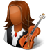 72x72px size png icon of Occupations Musician Female Dark