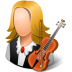 72x72px size png icon of Occupations Musician Female Light
