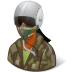 72x72px size png icon of Occupations Pilot Military Female Dark