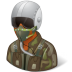 72x72px size png icon of Occupations Pilot Military Male Dark