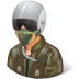 72x72px size png icon of Occupations Pilot Military Male Light