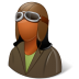 72x72px size png icon of Occupations Pilot OldFashioned Female Dark