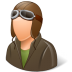 72x72px size png icon of Occupations Pilot OldFashioned Male Light