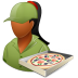72x72px size png icon of Occupations Pizza Deliveryman Female Dark