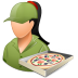 72x72px size png icon of Occupations Pizza Deliveryman Female Light