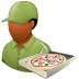 72x72px size png icon of Occupations Pizza Deliveryman Male Dark