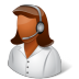 72x72px size png icon of Occupations Technical Support Representative Female Dark