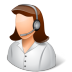 72x72px size png icon of Occupations Technical Support Representative Female Light