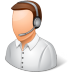 72x72px size png icon of Occupations Technical Support Representative Male Light