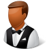 72x72px size png icon of Occupations Waiter Male Dark