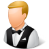 72x72px size png icon of Occupations Waiter Male Light