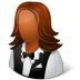 72x72px size png icon of Occupations Waitress Female Dark