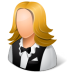 72x72px size png icon of Occupations Waitress Female Light