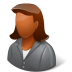 72x72px size png icon of Office Client Female Dark