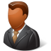 72x72px size png icon of Office Client Male Dark