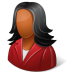 72x72px size png icon of Office Customer Female Dark