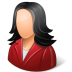 72x72px size png icon of Office Customer Female Light