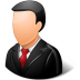 72x72px size png icon of Office Customer Male Light