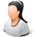 72x72px size png icon of Person Female Light