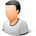 72x72px size png icon of Person Male Light
