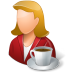 72x72px size png icon of Rest Person Coffee Break Female Light