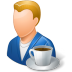 72x72px size png icon of Rest Person Coffee Break Male Light