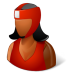 72x72px size png icon of Sport Boxer Female Dark